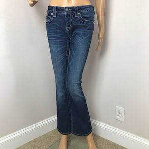 Miss Me Jeans Mid Rise Bootcut Woman Blue Size 27